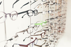 Glasses at the optometrist Stock Photos