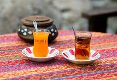 Orange and apple Turkish tea Stock Images