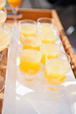 Glasses of orange juice Stock Images