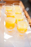 Glasses of orange juice Royalty Free Stock Photography