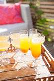 Glasses of orange juice Royalty Free Stock Photos