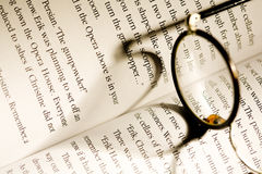 Glasses over a book Royalty Free Stock Photos