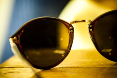 Glasses. A pair of round glasses, retro style Royalty Free Stock Photo