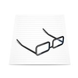 Glasses and paper Royalty Free Stock Image