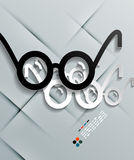 Glasses paper modern vector design Stock Images