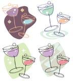 glasses party wine Στοκ Εικόνα