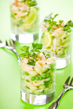 Glasses Of Pasta Salad Stock Photography