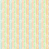 Glasses Pastel Line Seamless Pattern Stock Image