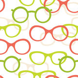 Glasses pattern Stock Image