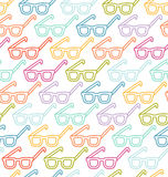 Glasses pattern Royalty Free Stock Images