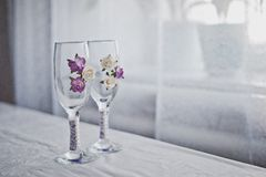 Glasses with a pattern 1814. Royalty Free Stock Image