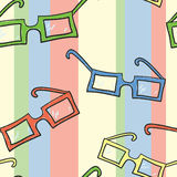 Glasses Pattern. A seamless pattern of different colored glasses Stock Illustration