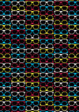 Glasses pattern. Vector illustration of glasses in a repeat pattern Stock Image