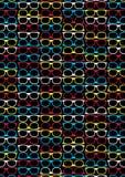 Glasses pattern Stock Image