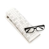 Glasses, Pen And Mutual Funds On Newspaper Royalty Free Stock Image