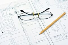 Architecture plan on paper