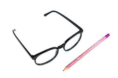 Glasses And Pencil Royalty Free Stock Photo
