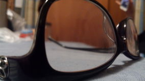 Through the glasses Stock Photo