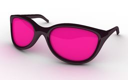 Glasses pink Stock Image