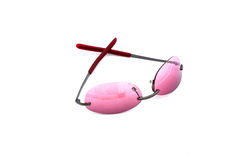 Glasses pink Stock Photos