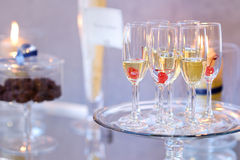 Glasses of with pink champagne Stock Photography