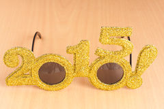 Glasses on plywood background Stock Photo