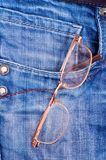 Glasses in pocket Stock Images