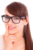 Glasses portrait Royalty Free Stock Photography
