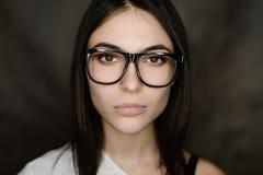 glasses portrait wearing woman 库存照片