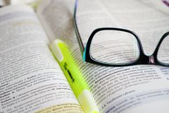 Glasses, Read, Learn, Book, Text Royalty Free Stock Photo