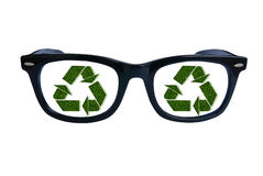 Glasses recycling Stock Image