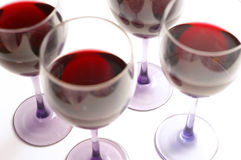 Glasses of red Royalty Free Stock Photos