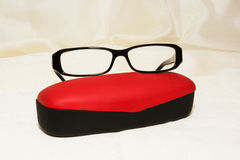 Glasses with red case Stock Image