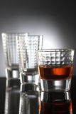 Glasses with red drink Stock Photo
