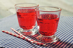 Glasses with red drink Royalty Free Stock Images