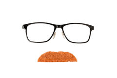 Glasses and Red Moustache Royalty Free Stock Image