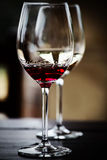 Glasses of red and white wine Stock Photo