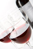 Glasses of red wine Stock Photos