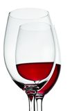 Glasses and red wine Stock Images
