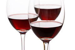 Glasses of red wine Stock Photography