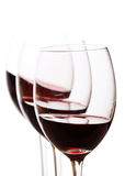 Glasses of red wine Stock Images
