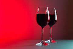 Glasses with red wine Royalty Free Stock Photo