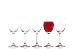 Glasses with red wine Stock Photo