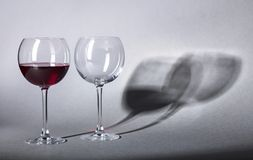 Glasses of red wine. Royalty Free Stock Image