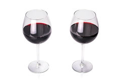 Glasses of red wine. Royalty Free Stock Photos