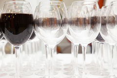 Glasses of red wine Royalty Free Stock Photos
