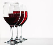 Glasses of red wine Royalty Free Stock Images