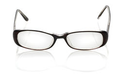 Glasses with reflaction. Glasses with reflection isolated on white stock photography
