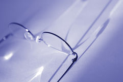 Glasses and refraction 3 Royalty Free Stock Images
