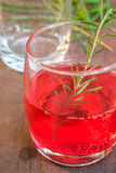 Glasses of refreshment raspberry flavour fizz Royalty Free Stock Image